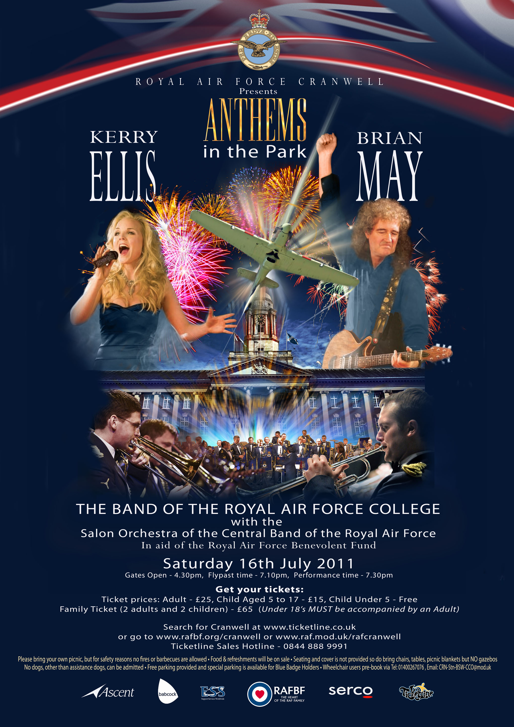 Brian May i Kerry Ellis plakat Anthems in the Park