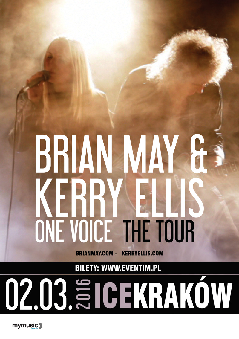 Brian May i Kerry Ellis plakat Kraków 2016